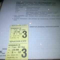 Photo taken at Senayan City XXI by Vita L. on 9/4/2012
