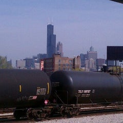 Photo taken at CTA - Halsted by Mark J. on 4/13/2012