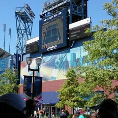 Photo taken at Panasonic Skype Station - US Open by Nanette D. on 9/3/2011