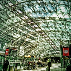 Photo taken at Frankfurt Airport Int'l Railway Station by Celia E. on 5/19/2012