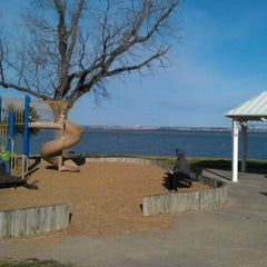 Photo taken at Windsurf Bay Park by Crawford A. on 1/28/2012