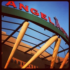 Photo taken at Angel Stadium of Anaheim by Alastair M. on 8/17/2012