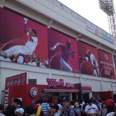 Photo taken at 무등야구장 (Mudeung Baseball Stadium) by HyunJu L. on 5/26/2012