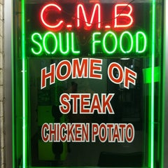 Photo taken at CMB Soul Food by Ramone T. on 3/19/2011