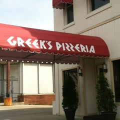 Photo taken at Greek's Pizzeria by Jeremy C. on 4/3/2012