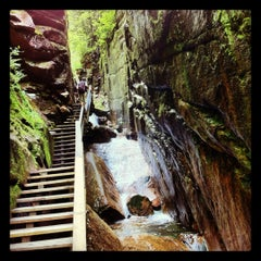 Photo taken at Flume Gorge by Kateryna on 7/29/2012