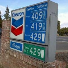 Photo taken at Chevron by Bev S. on 2/18/2012