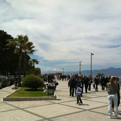 Photo taken at Lungomare Falcomatà by Marco M. on 4/22/2012