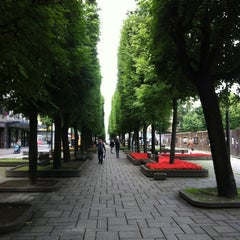 Photo taken at Laisvės alėja | Liberty Avenue | Аллея Свободы by Glukalo2 on 7/18/2012