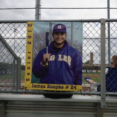Photo taken at Richardson High School Baseball Field by Irma K. on 3/15/2012