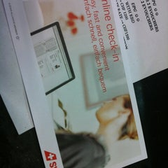 Photo taken at Swiss (LX) Check-In Area by Mondaylady on 8/26/2012