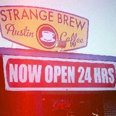 Photo taken at Strange Brew Austin Coffee by Sadie W. on 11/13/2011
