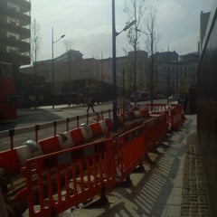 Photo taken at Megabus Birmingham City Centre Stop SH8 & SH9 by Mark B. on 5/21/2012
