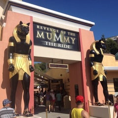Photo taken at Revenge of the Mummy - The Ride by Elizabeth R. on 9/3/2012