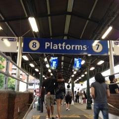Photo taken at Strathfield Station (Platforms 7 & 8) by R T. on 11/30/2011