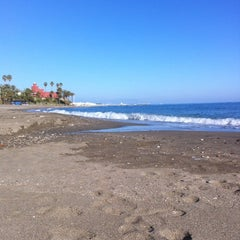 Photo taken at Playa Santa Ana by Lara L. on 2/5/2011