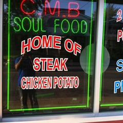 Photo taken at CMB Soul Food by Ramone T. on 9/12/2011