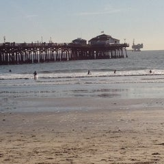 Photo taken at Seal Beach by Christie M. on 1/8/2012