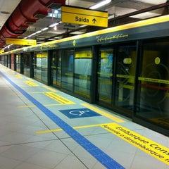 Photo taken at Estação Faria Lima (Metrô) by Denilson R. on 7/22/2012