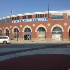 Photo taken at Modern Woodmen Park by Thomas R. on 8/30/2012