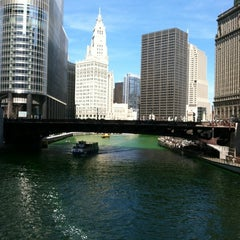 Photo taken at Chicago Riverwalk by Amie G. on 3/17/2012