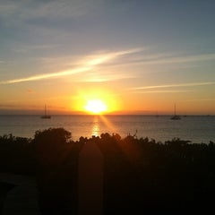 Photo taken at Sapodilla Beach by Tracey H. on 10/23/2011