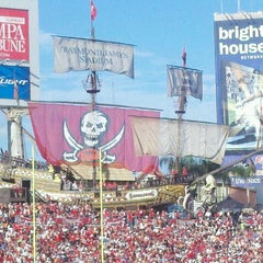 Photo taken at Raymond James Stadium by TampaBayNightLife.TV G. on 10/16/2011