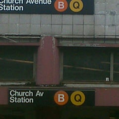 Photo taken at MTA Subway - Church Ave (B/Q) by I'm Mr blunt I don't need ur validation L. on 12/30/2011