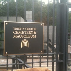Photo taken at Trinity Church Cemetery & Mausoleum by Sean H. on 9/10/2011