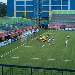 Photo taken at Stadion Lebak Bulus by Rozy R. on 11/5/2011