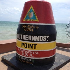 Photo taken at Southernmost Point Continental USA by Brian P. on 3/30/2012