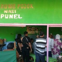 """Photo taken at Warung """"Pojok"""" Nasi Punel by Day D. on 8/21/2012"""