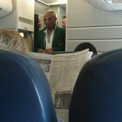 Photo taken at First Class US Air by Patrick L. on 8/17/2012
