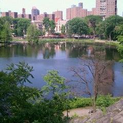 Photo taken at Central Park - Harlem Meer by Ibeliz G. on 5/29/2011