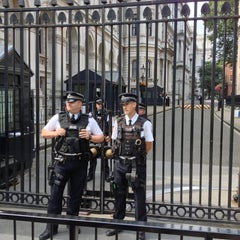 Photo taken at 10 Downing St. by Melville C. on 8/12/2012