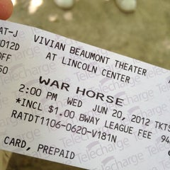 Photo taken at Warhorse @ Vivian Beaumont Theater by Dan O. on 6/20/2012