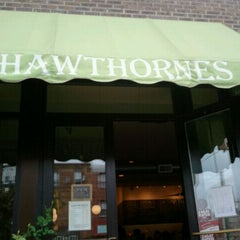 Photo taken at Hawthornes Cafe by Jessica D. on 10/2/2011