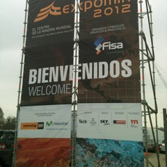 Photo taken at Espacio Riesco - Expomin 2012 by Alejandro E. on 4/13/2012