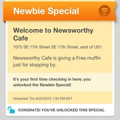 Photo taken at Newsworthy Cafe by MiKe M. on 8/23/2012
