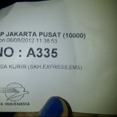 Photo taken at Kantor Pos Jakarta Pusat by Lucky L. on 8/6/2012