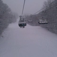 Photo taken at Mont-Sainte-Anne by Maxime F. on 1/2/2012
