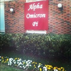 Photo taken at Alpha Omicron Pi-Nu Omicron Chapter at Vanderbilt by Martha on 3/22/2012