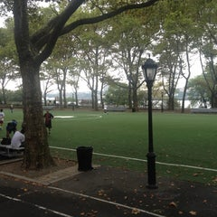 Photo taken at 101 Street Soccer Field by Annie F. on 9/4/2012