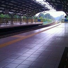 Photo taken at KTM Line - Kepong Sentral Station (KA07) by Ng Cheow Kwang on 5/6/2012