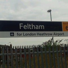 Photo taken at Feltham Railway Station (FEL) by Derek G. on 8/21/2012