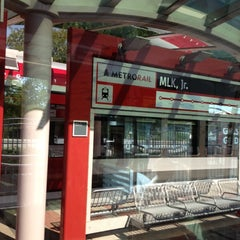 Photo taken at MetroRail - MLK Jr. Station by Jeff E. on 7/21/2012