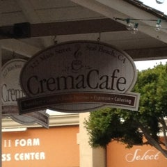 Photo taken at The Crema Cafe by Kelli L. on 2/13/2012