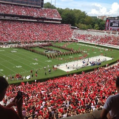Photo taken at Sanford Stadium by Carly B. on 9/1/2012