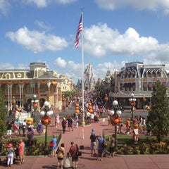 Photo taken at Main Street, U.S.A. by Rosie H. on 9/1/2012