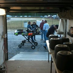 Photo taken at Delaware International Speedway by Tanya R. on 4/20/2012